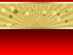 Luxury gold and red background Stock Illustration