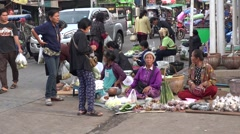 Food market in thailand    isaan province Stock Footage