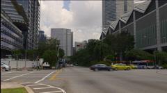 City center suntec city mall traffic crossroad walking view singapore Stock Footage