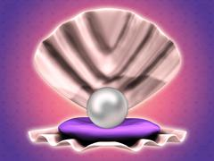 Pearl in shell Stock Illustration