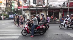 Rush hour in bankok traffic   thailand Stock Footage