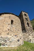 Romanesque church in Andorra Stock Photos