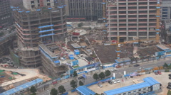 Construction site in Changsha, a city in central China - stock footage