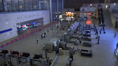 Security scanners at Changsha high speed railway station in China Stock Footage