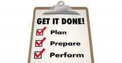 Get It Done Checklist Clipboard Plan Prepare Perform 4K - stock footage