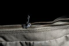 Metal zipper closing Stock Photos
