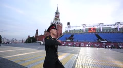 "Cadet march during the ""Spasskaya Tower"" Military Music Festival. Stock Footage"