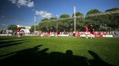 KFC championship on mini-football. Stock Footage