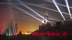 """Military orchestras perform during """"Spasskaya Tower"""" - stock footage"""