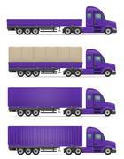Truck semi trailer for transportation of goods vector illustration Piirros