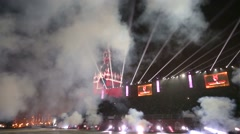 """Cannon firing during the """"Spasskaya Tower"""" Military Music Festival. - stock footage"""