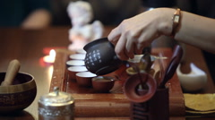 Traditional chinese tea ceremony Stock Footage