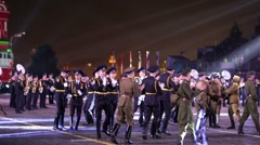 Ballet of the Central Border Ensemble FSB of Russia during. - stock footage