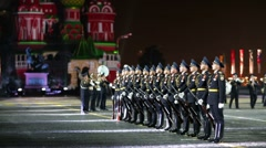 Military honor guard of the Presidential Regiment (Russia) Stock Footage