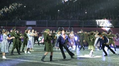 Ballet of the Central Border Ensemble FSB of Russia. Stock Footage