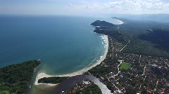 Aerial View of Litoral Norte (northern coastline) of Sao Paulo State, Brazil Stock Footage