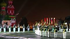 """Pakistan performs during the """"Spasskaya Tower"""" Military Music Festival. - stock footage"""