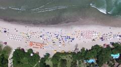 Top View of Camburi Beach, Sao Paulo, Brazil Stock Footage