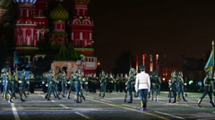 """Stock Video Footage of Orchestra of Kazakhstan performs during the """"Spasskaya Tower""""."""