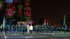 "Orchestra of Kazakhstan performs during the ""Spasskaya Tower"". Stock Footage"