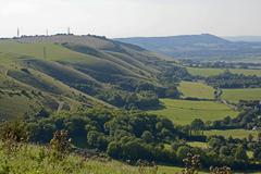 Stock Photo of The South Downs in Sussex. England