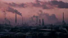 C0188_Oil Refinery Air Polution 4K - stock footage