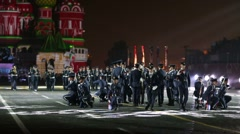 """Greece performs during the """"Spasskaya Tower"""" Military Music Festival. - stock footage"""