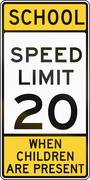 Road sign used in the US state of Delaware - school zone sign - stock illustration