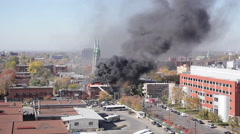 Building on fire - stock footage