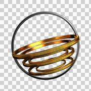 Abstract gold and silver ring Stock Illustration