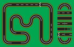 Racetrack Setup - stock illustration