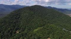 Aerial View of Hills in Sao Sebastiao, Sao Paulo, Brazil Stock Footage