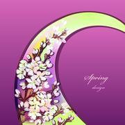Hand drawn sakura design. Stock Illustration