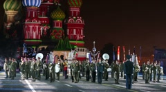Orchestra of 154 detached commandant regiment Stock Footage