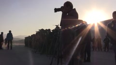 AFGHANISTAN, JANUARY 2016, Afghan Soldiers Reporters In Formation Airbase - stock footage