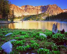 Mirror Lake, Wyoming - stock photo