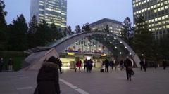 London Tube Station Tracking Shot Stock Footage