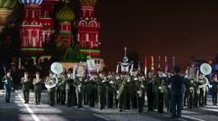 Orchestra of 154 detached commandant regiment. - stock footage