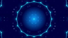 Blue abstract background, kaleidoscope light, loop Stock Footage