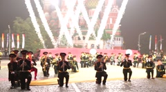 Band of the Moscow Suvorov Military Music College . Stock Footage