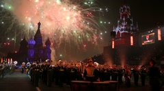 """Spasskaya Tower"" Military Music Festival. - stock footage"