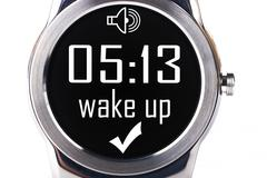 Smartwatch wake up Stock Photos