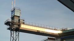 Gondolen in Stockholm in Winter sunshine Stock Footage