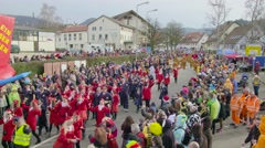 German Carnival Procession Timelapse Part2 - stock footage
