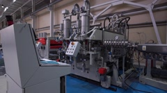 The Modern Automated Production Line. Polycarbonate Production. Stock Footage