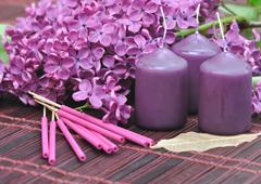Lilac perfume Stock Photos
