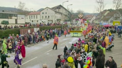German Carnival Procession Timelapse Part4 - stock footage