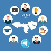 Recrutment Strategy Business Concept. External & International r - stock illustration