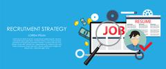 Stock Illustration of Recrutment Strategy Business Concept. External and International r