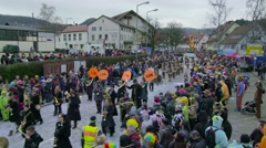 German Carnival Procession Timelapse Part6 - stock footage